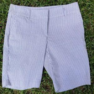 Cynthia Rowley Seersucker Striped Bermuda Short